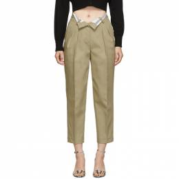 Alexander Wang Beige Flipped Waistband Carrot Trousers 192187F08700702GB