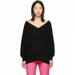 Alexander Wang Black Sheer Yoke Sweater 192187F10000302GB