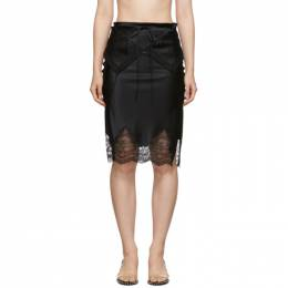 Alexander Wang Black Tie Fold Over Slip Skirt 192187F09001104GB