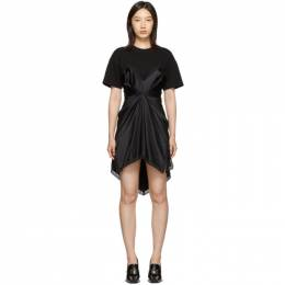Alexander Wang Black Cinched T-Shirt Slip Dress 192187F05201504GB
