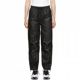 Alexander Wang Black Pleather Chynatown Track Pants 192187F08600305GB