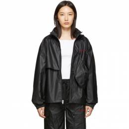 Alexander Wang Black Pleather Chynatown Track Jacket 192187F06300503GB