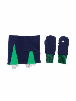 Stella McCartney Kids - scarf and gloves set 399SNM98953860630000