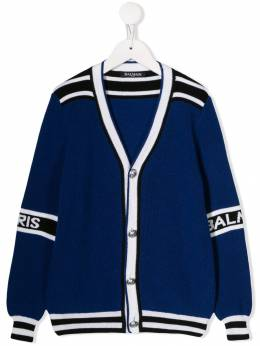 Balmain Kids - strip logo cardigan 556LC956953838630000
