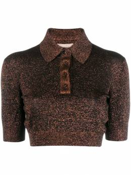 Michael Kors Collection - glitter detail polo shirt AKN95995563336000000