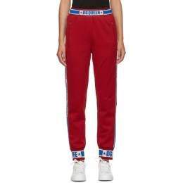 Dolce&Gabbana Red DG Queen Track Pants 192003F08600201GB
