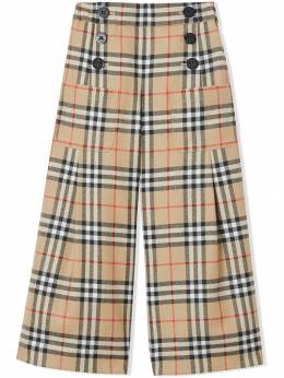 Burberry Kids - Vintage Check Wool Sailor Trousers 55659538533900000000
