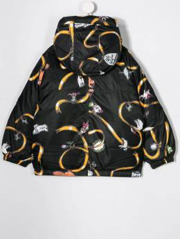 Marni Kids - charms print hooded jacket 0DKM66F3953853300000