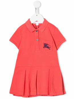 Burberry Kids - Equestrian Knight embroidered polo dress 36899535538300000000
