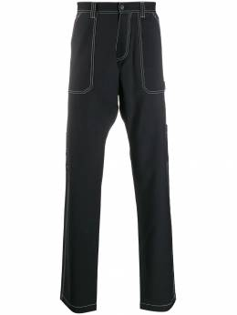 Versace - contrast stitch wide-leg trousers 559A0369869509663900