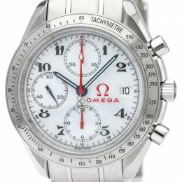 Omega White Stainless Steel Speedmaster Olympic Games Collection 323.10.40.40.04.001 Men's Wristwatch 40MM 220911