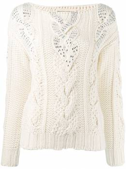 Ermanno Scervino - cable knit jumper 5M356CTHSM9550059300
