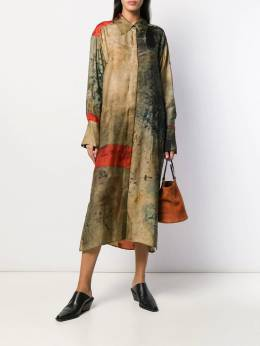 Uma Wang - burnished look midi dress 65695569339000000000
