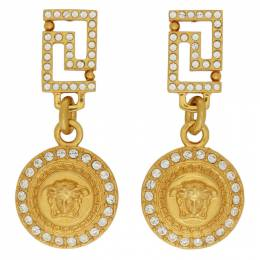 Versace Crystal Medusa Drop Earrings 192404F02203701GB