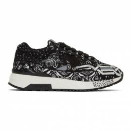 Versace Black Bandana Borderline Achilles Sneakers 192404M23701317GB