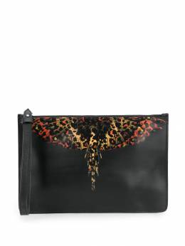 Marcelo Burlon County Of Milan - leopard-print wings motif clutch A698E998559599688955
