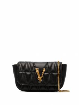 Versace - black quilted shoulder bag H069DNATR59595666000