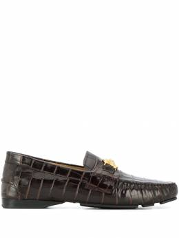 Versace - crocodile effect embossed loafers 6695D96VGKCKOH959386