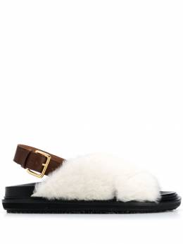 Marni - faux fur crisscross sandals S665869LM63095595996