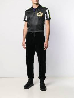 Versace - logo printed panel polo shirt 98699AP6600595500965
