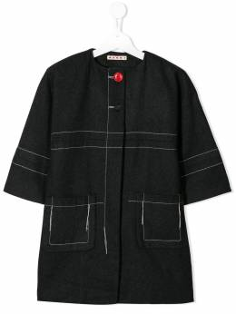 Marni Kids - stitch detail coat 0DJM66F0955939090000