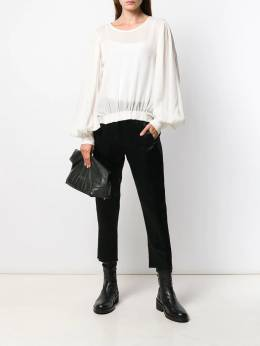 Ann Demeulemeester - cropped satin trousers 09566P90695533363000