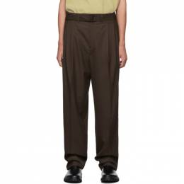 Lemaire Brown Pleated Trousers 192646M19101005GB