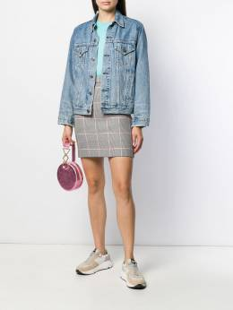 MSGM - houndstooth mini skirt 0MDD995A995866955696
