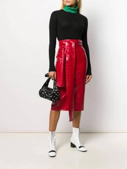 MSGM - crocodile embossed fitted skirt 0MDD9659958609556696