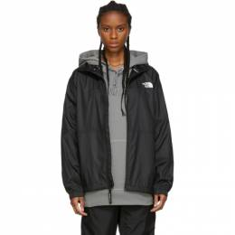 The North Face Black Graphic Collection Wind Jacket 192802F06300102GB