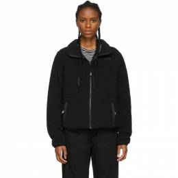 The North Face Black Sherpa Dunraven Crop Jacket 192802F09700303GB