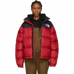 The North Face Red and Black Down 1996 Retro Nuptse Jacket 192802F06101203GB