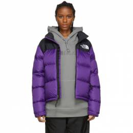 The North Face Purple and Black Down 1996 Retro Nuptse Jacket 192802F06101905GB