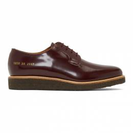 Common Projects Burgundy Derby Shoes 192133M25500302GB