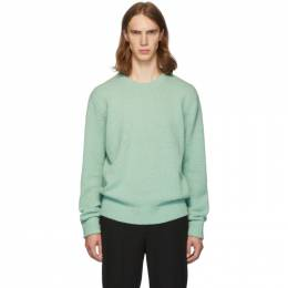 Tibi SSENSE Exclusive Green Alpaca Airy Pullover Sweater 192095M20100505GB