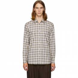 Tibi SSENSE Exclusive White and Multicolor Check Kingtson Shirt 192095M19200405GB