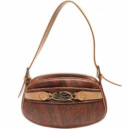 Etro Brown Paisley Printed Coated Canvas Crossbody Bag 220018