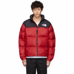 The North Face Red and Black Down 1996 Retro Nuptse Jacket 192802M17800803GB