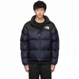 The North Face Navy and Black Down 1996 Retro Nuptse Jacket 192802M17801104GB