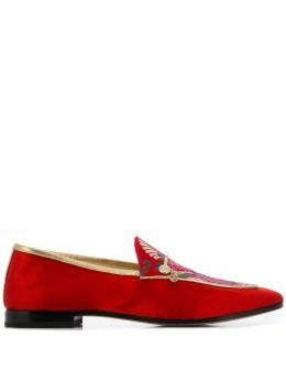 Fabi - floral embroidered loafers 339ZC393663609000000