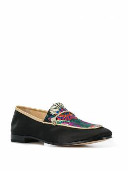 Fabi - floral embroidered loafers 339ZC093663606000000