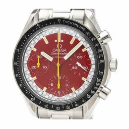 Omega Red Stainless Steel Speedmaster Michael Schumacher 3510.61 Men's Wristwatch 39MM 220937
