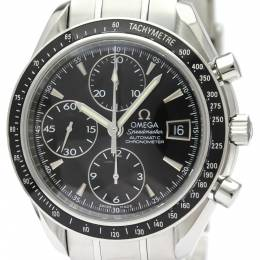 Omega Black Stainless Steel Speedmaster Date/Day-Date Chronograph 3210.50 Men's Wristwatch 40MM 220928