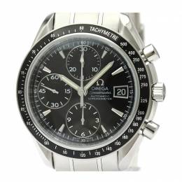 Omega Black Stainless Steel Speedmaster Date/Day-Date Chronograph 3210.50 Men's Wristwatch 40MM 220925