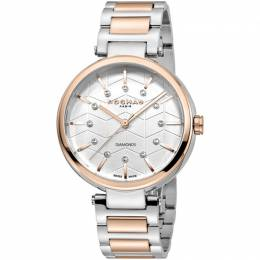 Rochas Silver Rose Gold-Plated Stainless Steel RP2L017M0061 Women's Wristwatch 36MM 221316