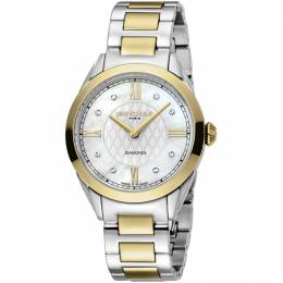 Rochas Silver Gold-Plated Stainless Steel RP2L016M0041 Women's Wristwatch 34MM 221319