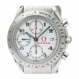 Omega White Stainless Steel Speedmaster Olympic Games Collection 323.10.40.40.04.001 Men's Wristwatch 40MM 220940