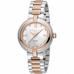Rochas Silver Rose Gold-Plated Stainless Steel RP2L018M0071 Women's Wristwatch 34MM 221327