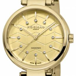 Rochas Champagne Gold-Plated Stainless Steel RP2L017M0021 Women's Wristwatch 36MM 221322