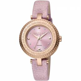 Rochas Pink Rose Gold-Plated Stainless Steel and Leather RP2L019L0031 Women's Wristwatch 34MM 221333